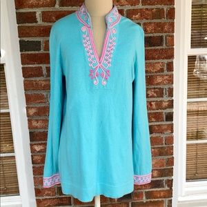 Lilly Pulitzer Cashmere Blend Tunic Sweater